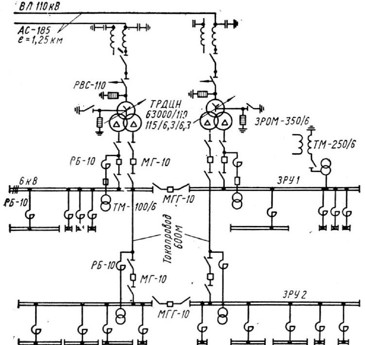 Система электроснабжения вариант1