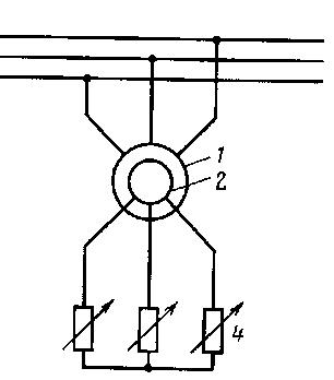 Пуск АД с добавочным сопротивлением в цепи ротора