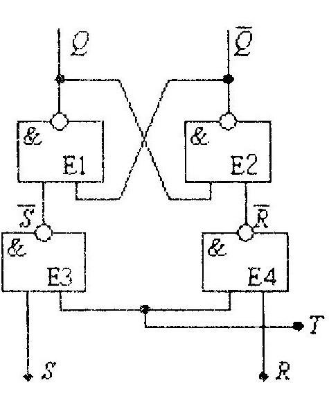 Схема тактового R-S триггера на элементах И-НЕ