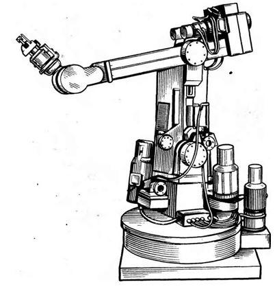 Рис. 2. Промышленный робот с электрическим приводом и электромагнитными захватами
