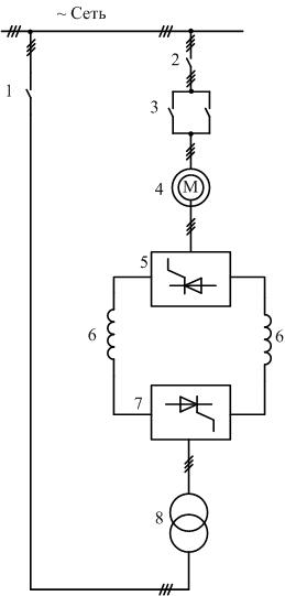 Асинхронно-тиристорный каскад схема