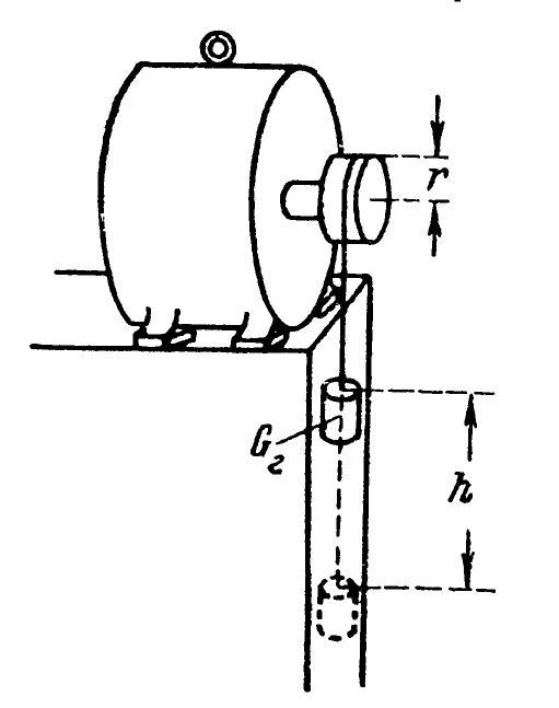 Определение момента инерции ротора методом падающего груза