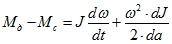 Уравнение движения электропривода при переменном моменте