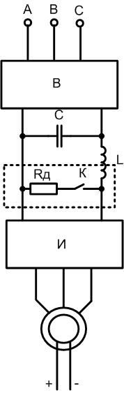 Рекупиративное торможение синхронного электродвигателя