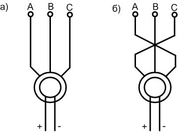Торможение синхронного электродвигателя противовключением