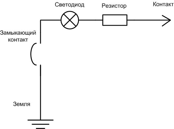 Индикатор фазы. Принципиальная схема