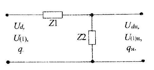 Схема замещения электрического фильтра