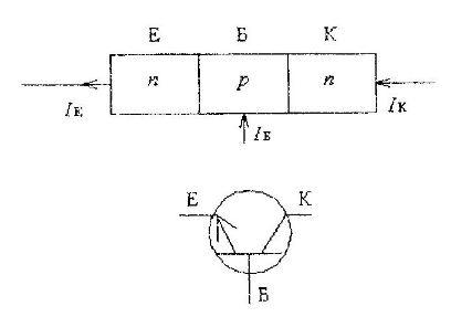 Схема транзистора с n-p-n переходом