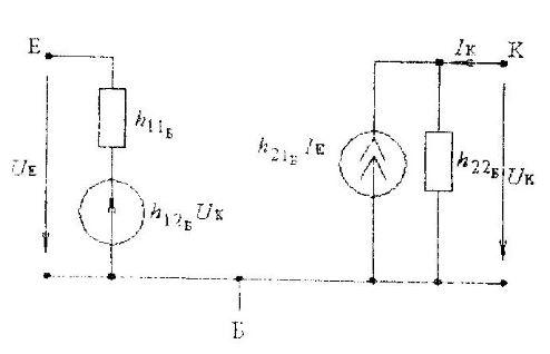 Эквивлентная схема транзистора с общим эмиттером