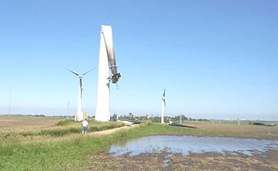 Ветряк после аварии