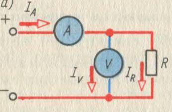 Измерение мощности косвенным методом в цепи постоянного тока при малом сопротивлении нагрузки