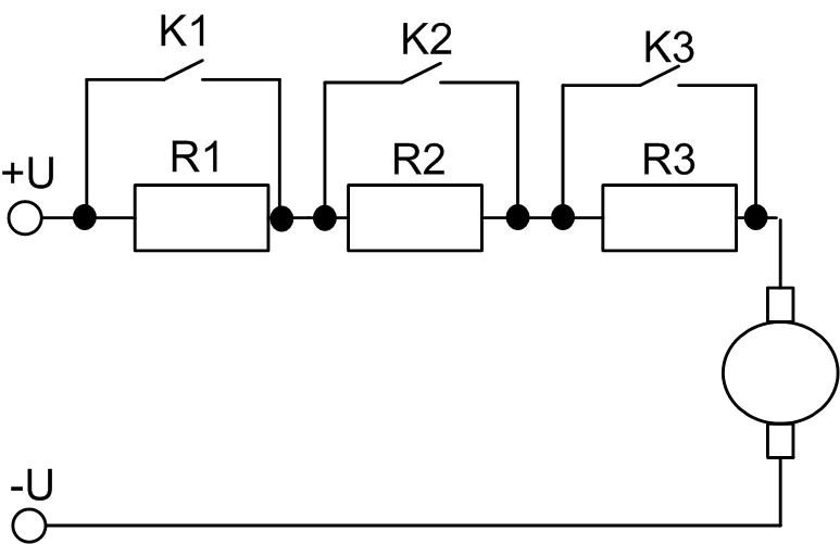 Резистивно-контакторная схема управления