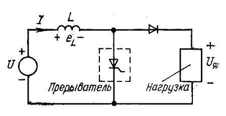 Схема параллельного преобразователя напряжения