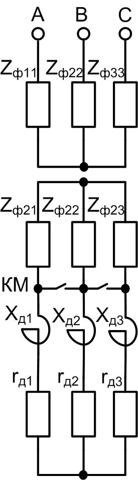 Активное и индуктивное сопротивление в цепи ротора АД с ФР