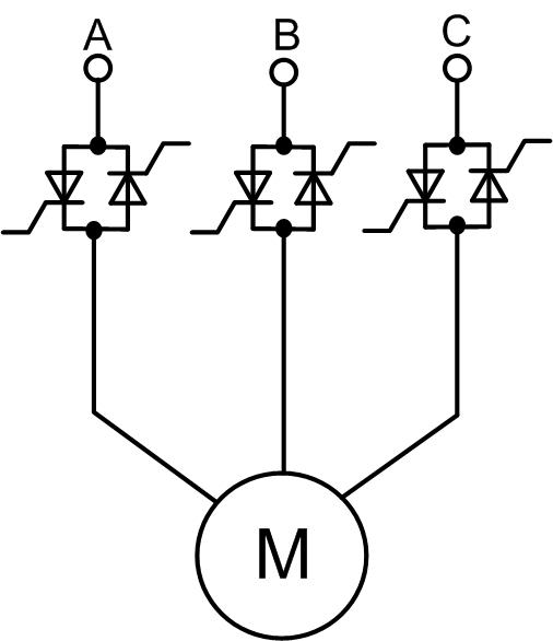 Устройство плавного пуска асинхронного электродвгателя