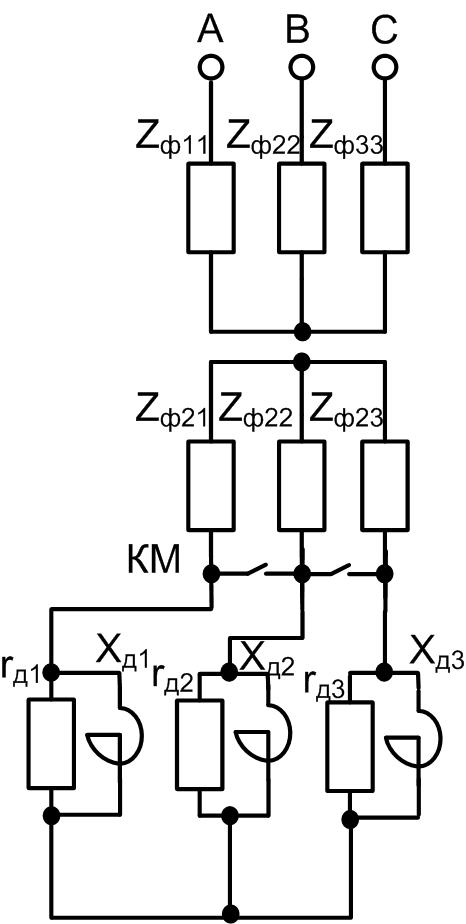 параллельное включение активного и индуктивного сопротивления в цепи ротора АД с ФР