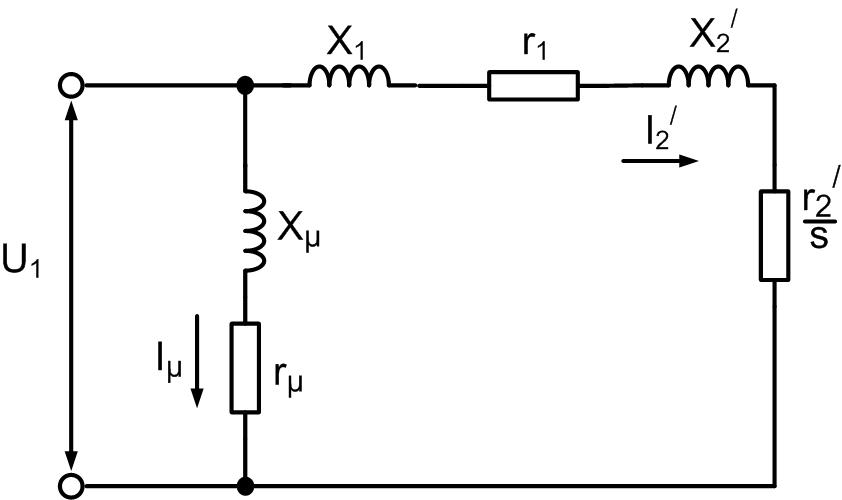 Г - образная схема замещения асинхронного электродвигателя