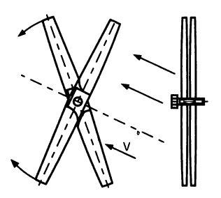 Конструкция ветроэлектростанции с двумя пропеллерами