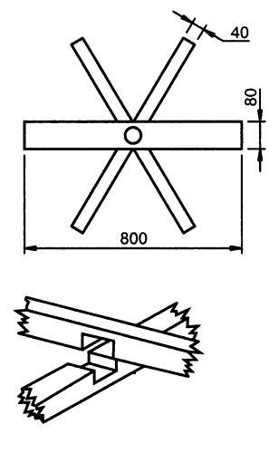 Сцепление планок крестовины