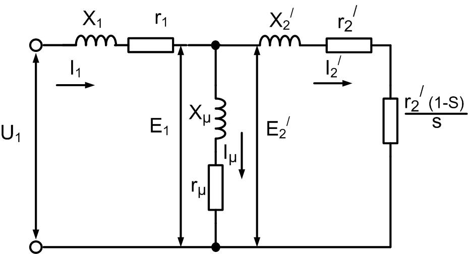 Т - образная схема замещения асинхронного электродвигателя