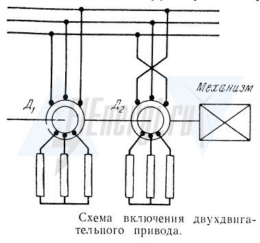Схема двухдвигательного электропривода