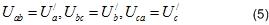 Соотношение между фазным и линейным напряжением при соединении треугольником