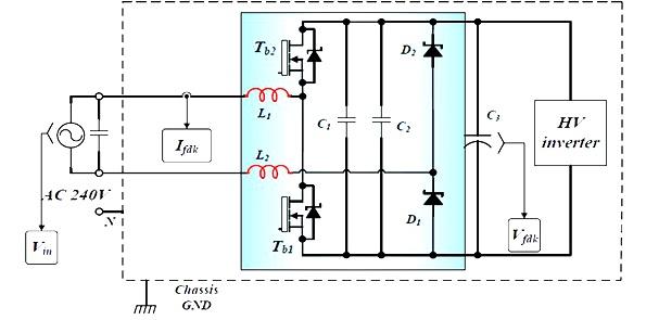 Внешний выпрямиель с корректировкой коэффициента мощности для высокочастотного инвертора