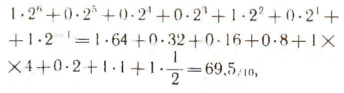Число в двоичной системе счисления