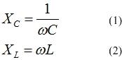 Реактивное сопротивление индуктивности и емкости