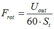 Частота вращения ротора тахогенератора постоянного тока