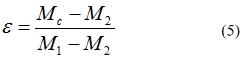 Относительная длительность включения контактов при импульсном регулировании скорости АД