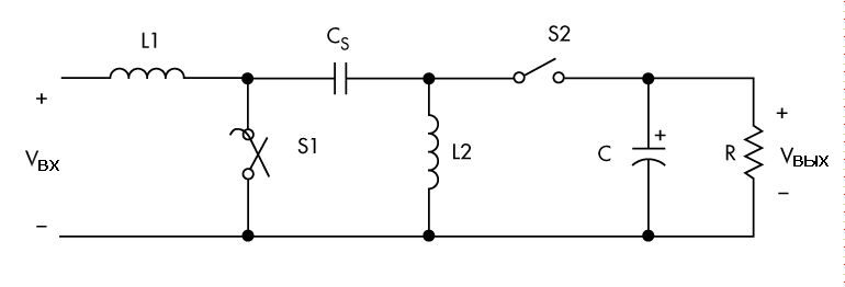 Схема SEPIC преобразователя для светодиодных драйверов