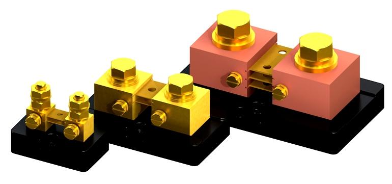 Четырехпозиционная конструкция обычных сильноточных шунтирующих резисторов