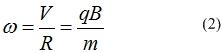 Угловая скорость заряженной частицы