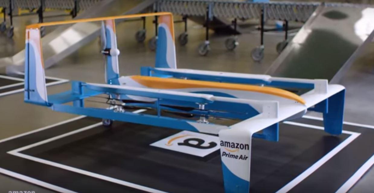 Amazon запатентовал беспилотный аппарат для зарядки электромобилей