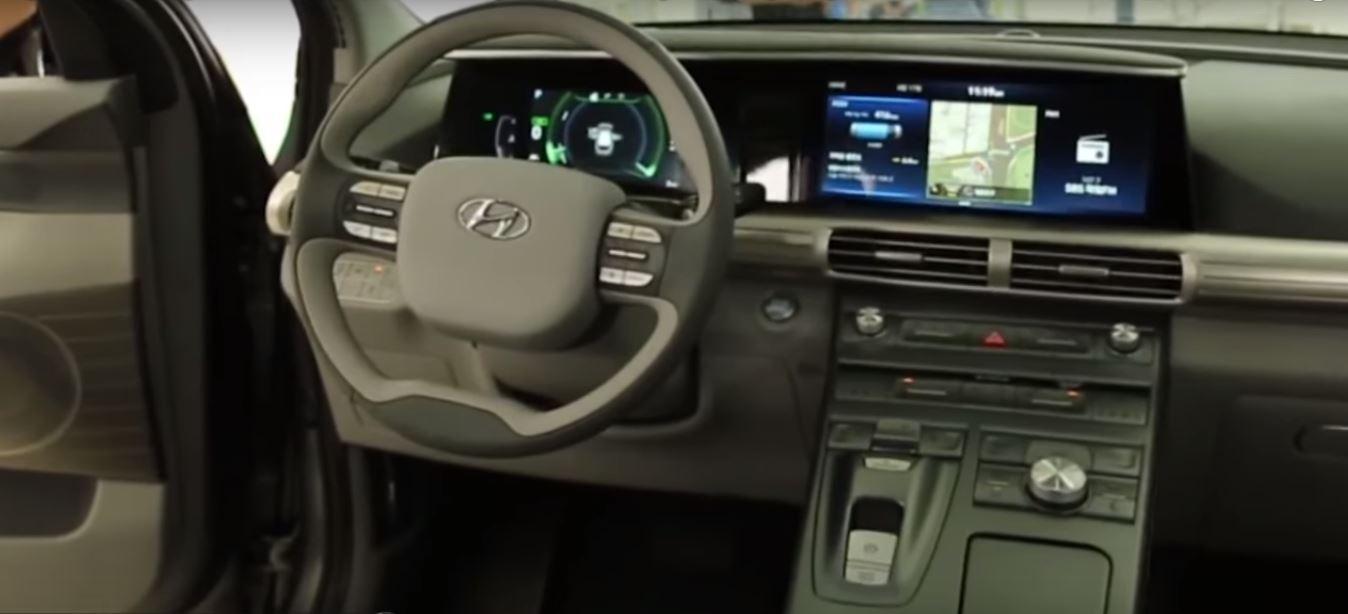 Салон электромобиля на водородном топливе нового поколения от Hyundai