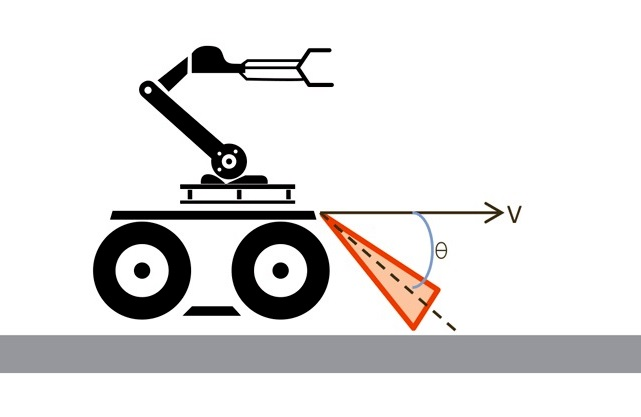 Робот с mmWave датчиками для определения препятствий на пути движения
