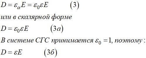 Вектор электрического смещения D