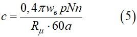 Коэффициент пропорциональности между ЭДС генератора постоянного тока и его током возбуждения