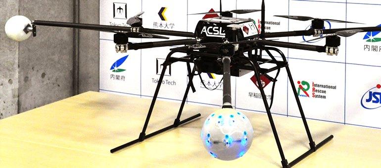 Спасательный дрон использует микрофонную решетку вместо других сенсорных технологий для обнаружения - через звуки потерпевших в труднодоступных местах с ограниченной видимостью