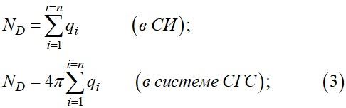 Поток вектора электрического смещения