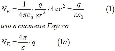 Поток вектора напряженности для шаровой поверхности выраженный через напряженность