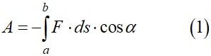 Выражение работы против сил поля при перемещении точечного заряда qпр из точки a в точку b