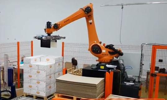 Специализированный робот для укладки товаров на паллеты