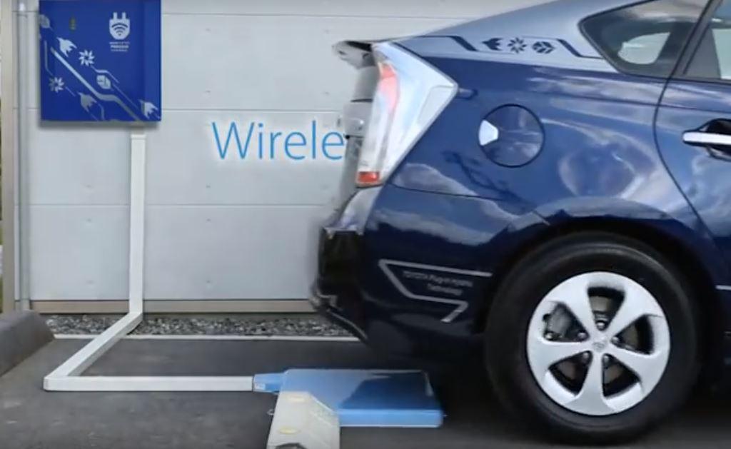 Паркинг с беспроводной зарядкой для электромобилей