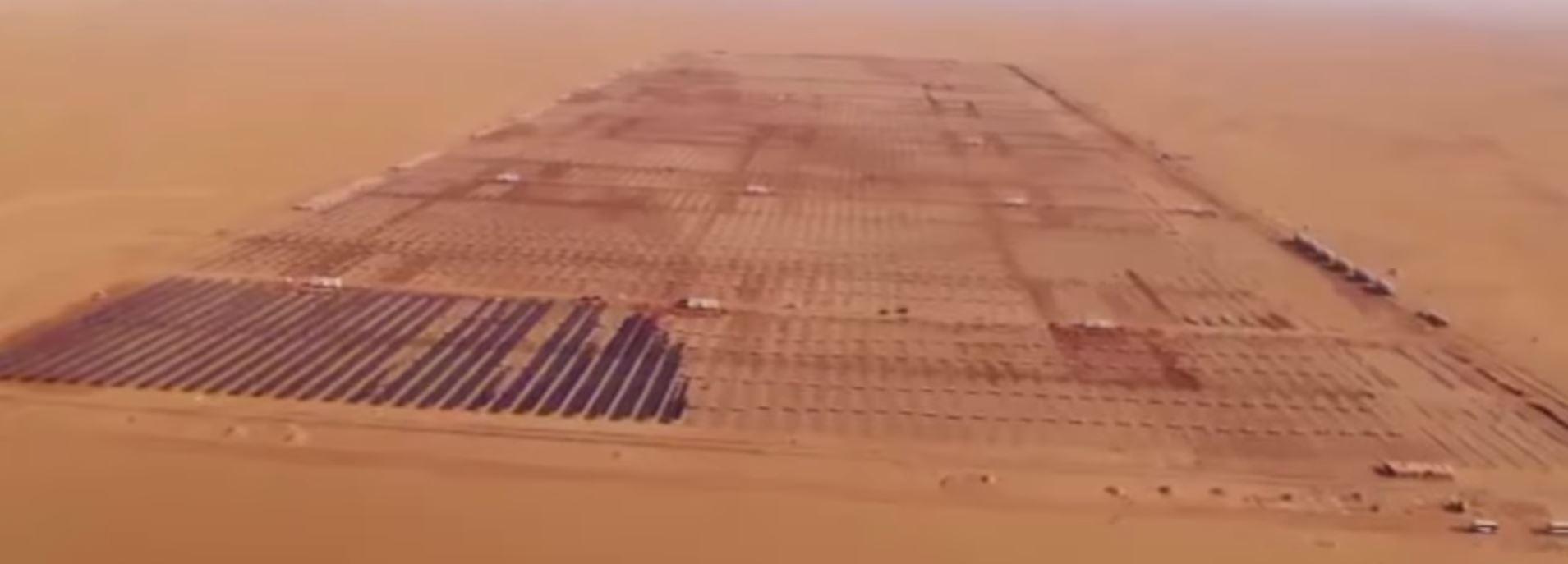 Исторические кадры строительства солнечного парка в Египте