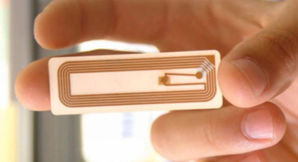 RFID метка вид изнутри