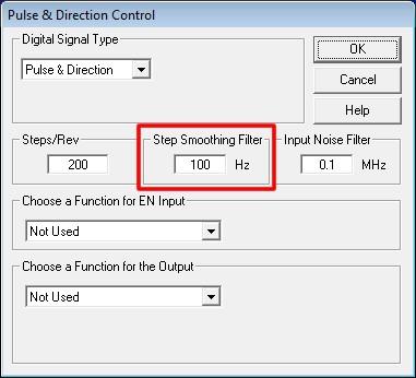 Специализированное программное обеспечение позволяет задавать количество микрошагов на полный шаг двигателя