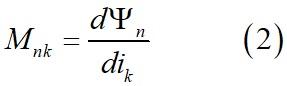 Индуктивность как отношение приращений потока (потокосцепления) к току