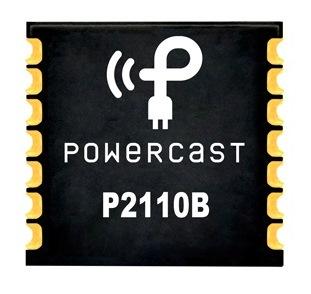 В этом корпусе для поверхностного монтажа находится интегральная микросхема P2110B Powerharvester для сбора энергии,  которая преобразует сигналы ISM от 902 до 928 МГц в напряжение постоянного тока